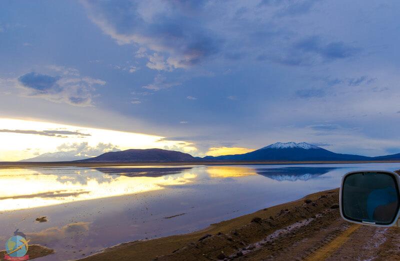 Atardecer en el altiplano, Bolivia