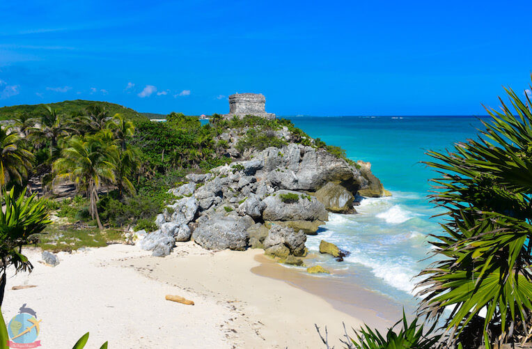 Tulum ruins and the beach, Riviera Maya