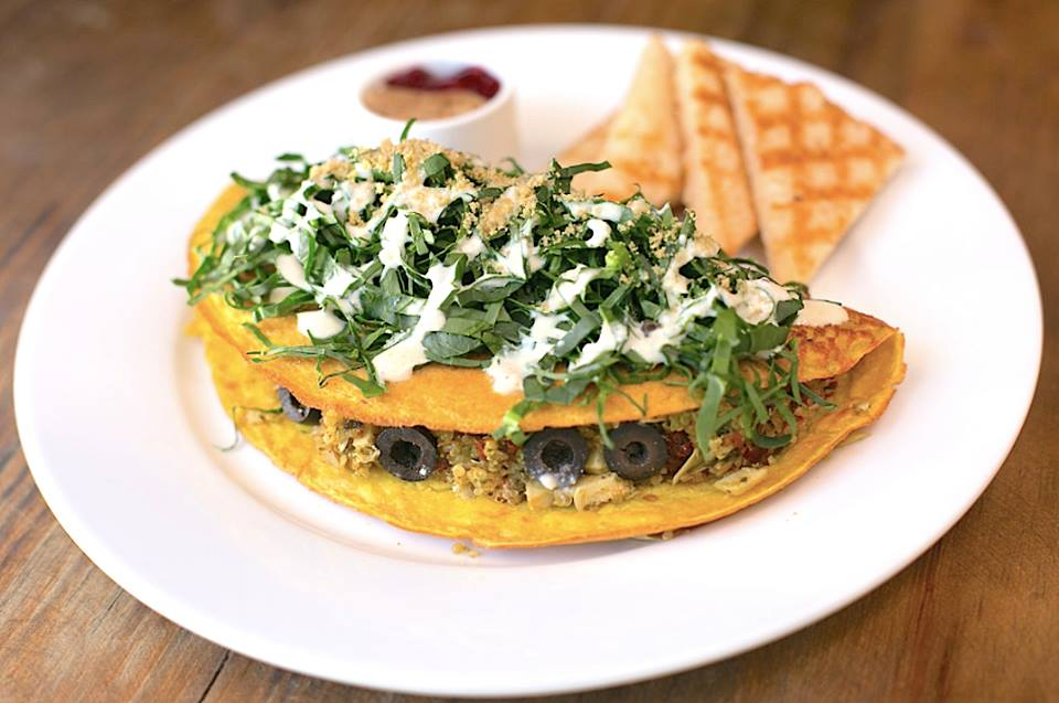 Vegan Omelette-The pitted Date, Playa del Carmen