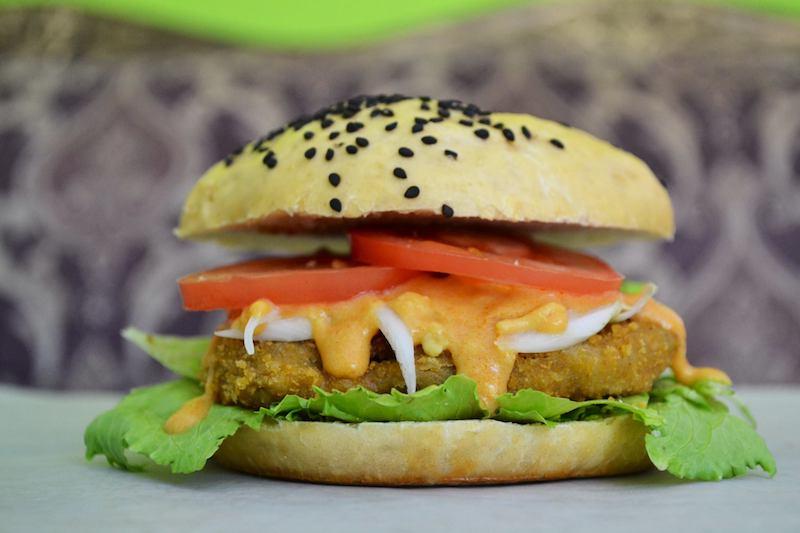 Hamburguesa Vegana- Marvin's Burgers, Playa del Carmen